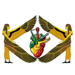Apparel T-Shirt Ancient Egyptian Reggae Music Heart